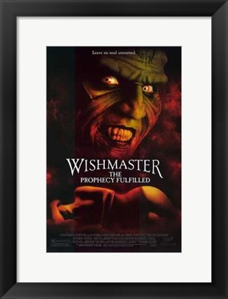 Framed Wishmaster 4: the Prophecy Fulfilled Print