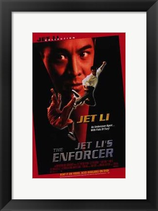 Framed Jet Li's the Enforcer Print