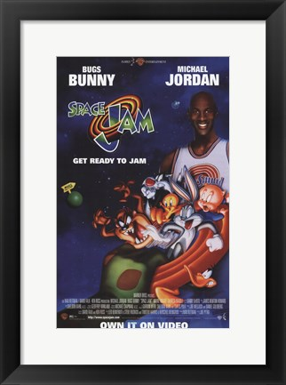 Framed Space Jam - Michael Jordan Print