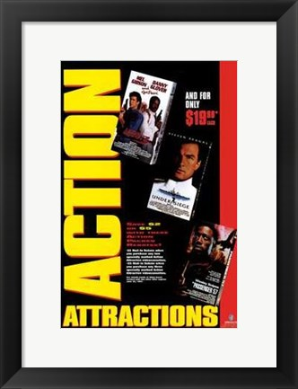 Framed Action Attractions Print