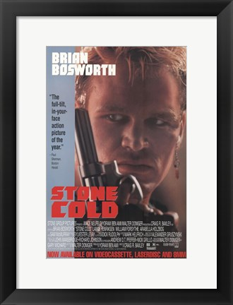 Framed Stone Cold Print