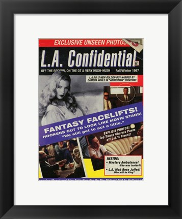 Framed La Confidential - Exclusive Unseen Photos Print
