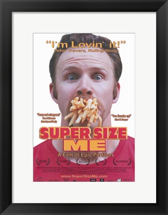 Framed Super Size Me Movie Print