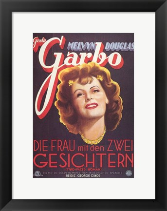 Framed Two-Faced Woman Greta Garbo Print