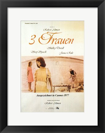 Framed Three Women (movie poster) Print