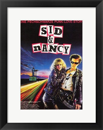 Framed Sid and Nancy - Punk love story Print