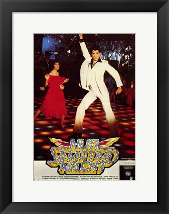 Framed Saturday Night Fever (The Bee Gees) - dancing Print