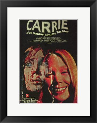 Framed Carrie Closeup Print