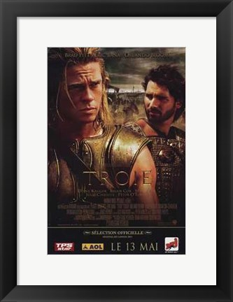 Framed Troie - Troy Orlando Bloom and Brad Pitt Print