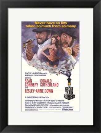 Framed Great Train Robbery movie poster Print