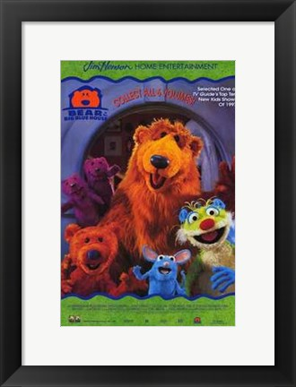 Framed Bear in the Big Blue House Print