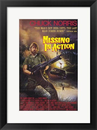 Framed Missing in Action Print
