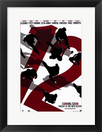 Framed Ocean's Twelve Number 12 Print
