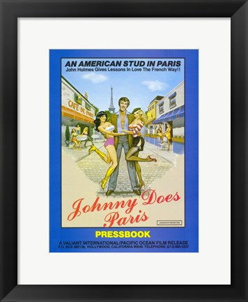 Framed Johnny Does Paris Print