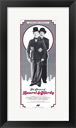 Framed Return of Laurel and Hardy Print