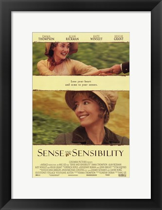 Framed Sense and Sensibility Print