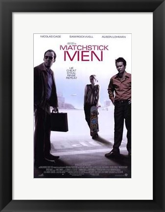 Framed Matchstick Men Print