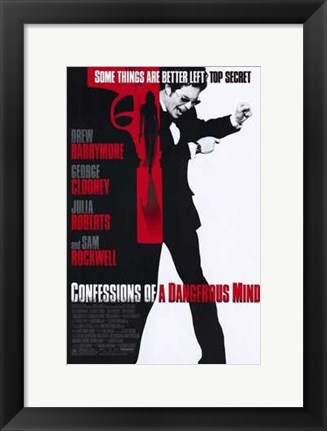 Framed Confessions of a Dangerous Mind Print