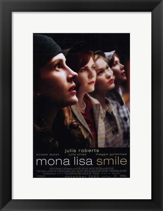 Framed Mona Lisa Smile Print