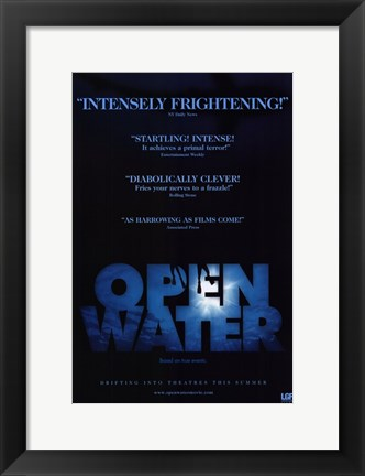 Framed Open Water Film Print
