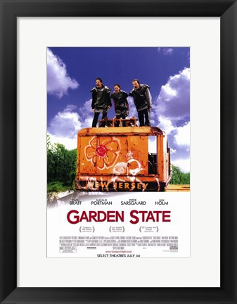 Framed Garden State - three people Print