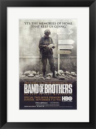 Framed Band of Brothers Memories Keep Us Going Print