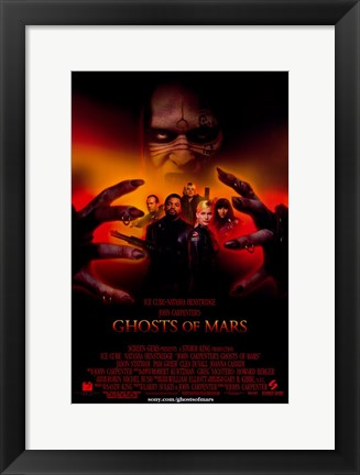 Framed John Carpenter's Ghosts of Mars - style A Print
