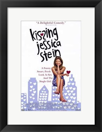 Framed Kissing Jessica Stein Print