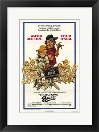 Framed Bad News Bears Tatum ONeal Print