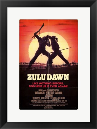 Framed Zulu Dawn Print