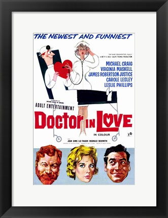 Framed Doctor in Love Print