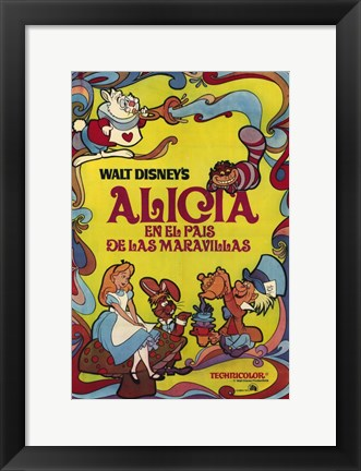 Framed Alice in Wonderland (spanish) Print