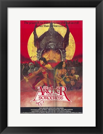 Framed Archer and the Socerress Print