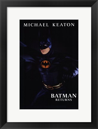 Framed Batman Returns Michael Keaton Print