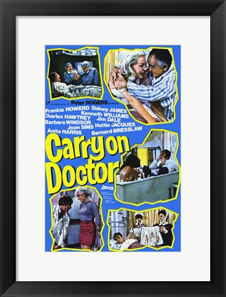 Framed Carry on Doctor Scenes Print