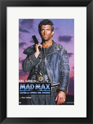 Framed Mad Max Beyond Thunderdome Italian Print