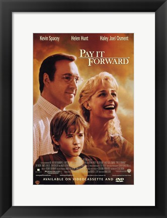 Framed Pay it Forward Movie Print