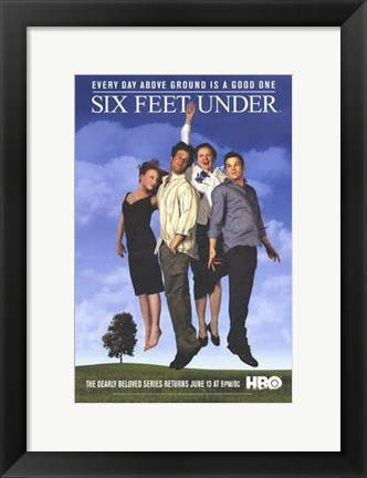 Framed Six Feet Under Cast Print