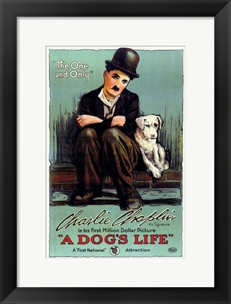 Framed Dog's Life Print