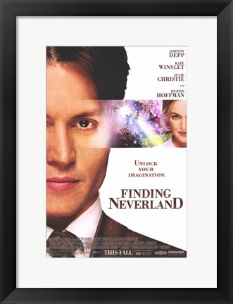 Framed Finding Neverland Johnny Depp Print