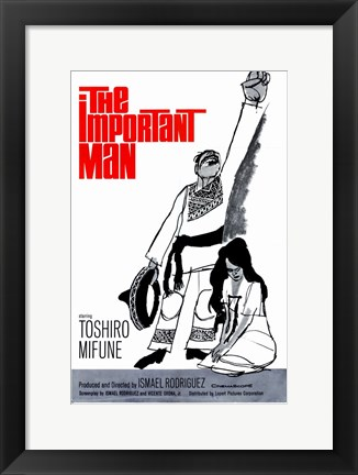 Framed Important Man Print