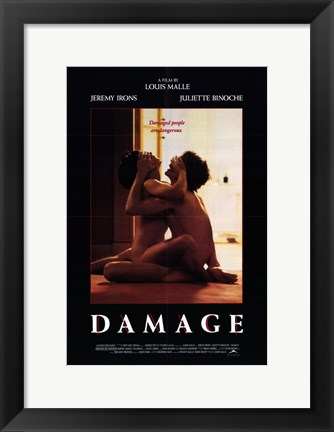 Framed Damage By Louis Malle Print