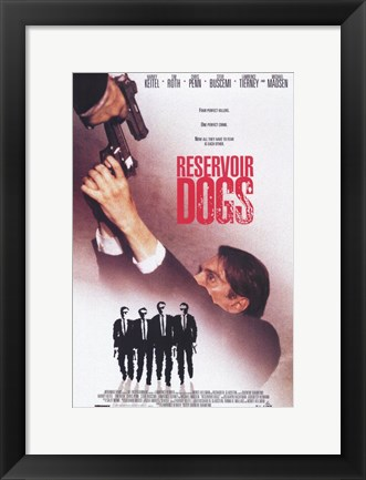Framed Reservoir Dogs Shooting Movie Poster Print