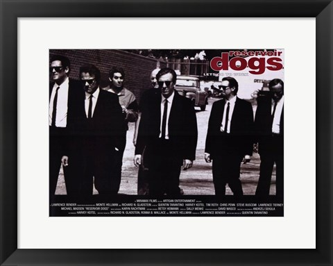 Framed Reservoir Dogs Black and White Print