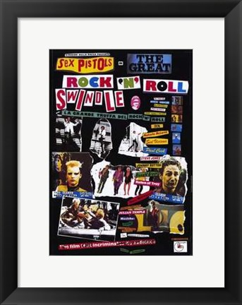 Framed Great Rock 'N' Roll Swindle scenes Print
