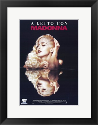 Framed Truth or Dare A Letto Con Madonna Print