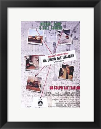 Framed Italian Job Italian Language Print