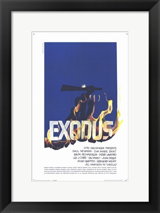Framed Exodus - fire Print