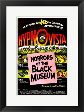 Framed Horrors of the Black Museum Print