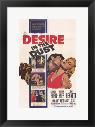 Framed Desire in the Dust Print